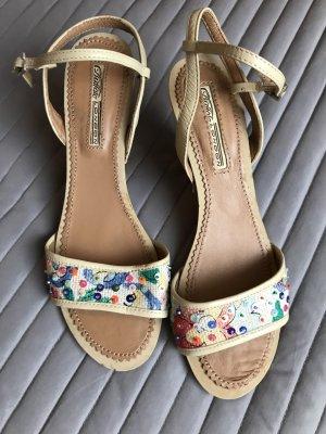 Buffalo High-Heeled Sandals beige