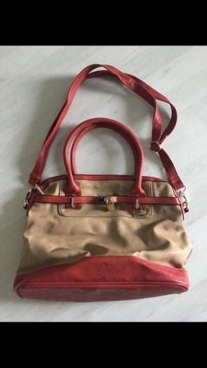 Neue Bulaggi Tasche in beige mit rot