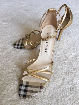 Burberry High Heels gold-colored leather