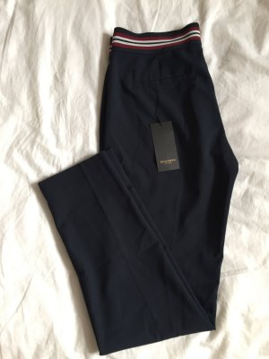 Reserved Pantalone a pieghe blu scuro