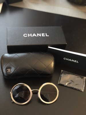 Chanel Round Sunglasses gold-colored-brown