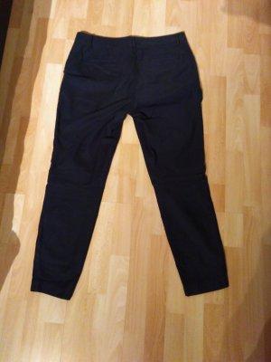 Lanius Chino donkerblauw-zwart Katoen