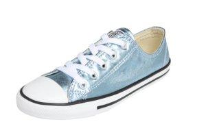 Neue Chucks, Gr 39,5 , silber blau metallic