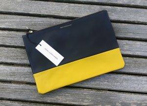 Neue Clutch oder Kosmetiktasche Moss Copenhagen schwarz gelb