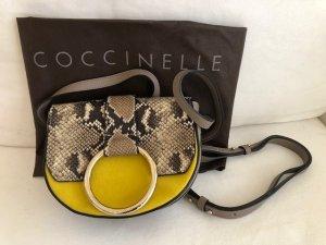 neue Coccinelle bag, crossbody python-gelb