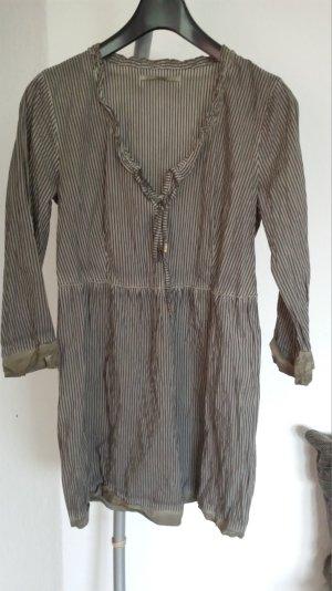 Neue coole Bottega Veneta ItalyTunika Bluse Hemd Kleid Long gestreift gr 38 M