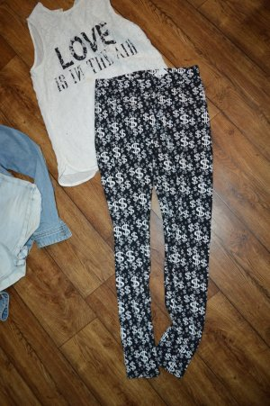 Tally Weijl Leggings negro-blanco
