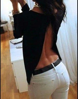 Backless Top black