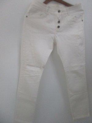 Neue Creme Boyfriend Style Jeans Hose Größe 36