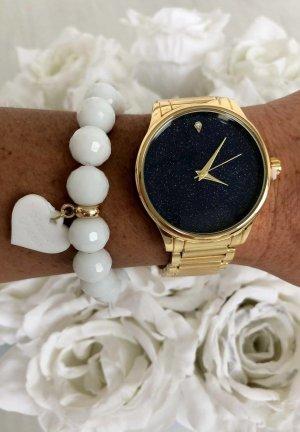 Neue Damen Armbanduhr Gold Armschmuck Edelstahl sehr edel hübsches Weihnachtsgeschenk