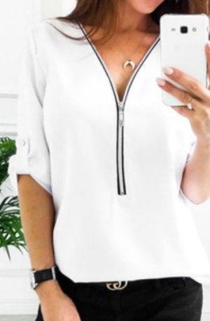 Neue Damen Chiffon Bluse mit zipper, Zara, gr. M
