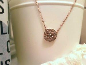 Neue Damen Halskette von Fossil》Roségold