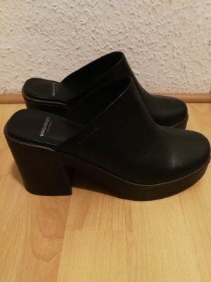 Vagabond Heel Pantolettes black-dark brown