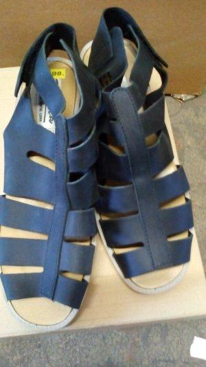High-Heeled Sandals black leather