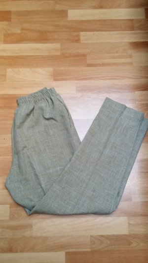 neue Damen Stoffhose mit Gummiband in sand-braun/ Gr. 40