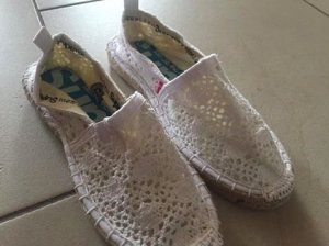 Neue Damen Superdry Espadrille Optic White Crochet Gr.38