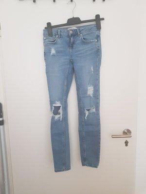 Gina Tricot Skinny jeans azuur-neon blauw