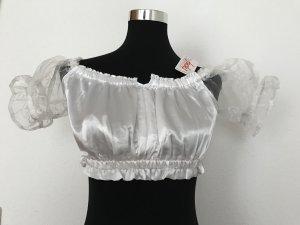 Fuchs Trachtenmoden Folkloristische blouse wit Synthetisch