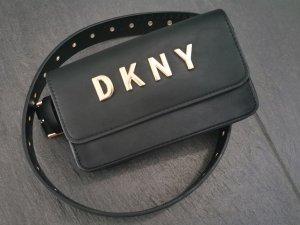 Neue DKNY Gürteltasche schwarz gold