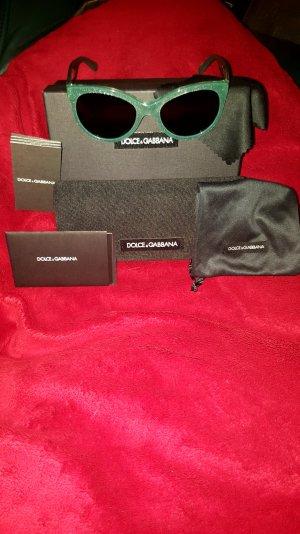 Neue Dolce & Gabbana Designer Sonnenbrille in grün mit Glitter