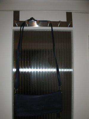 Neue dunkelblaue Schultertsche aus Leder (deutsches Produkt), Geschenkidee