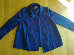 Neue dunkelblaue Trench-Jacke in leicht ausgestellter A-Form, Gr. 40