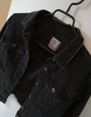 Bershka Denim Jacket dark grey-anthracite