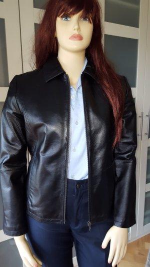 Avitano Veste en cuir noir