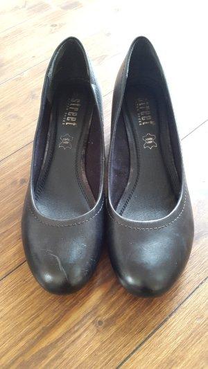 Street Loafers zwart Leer