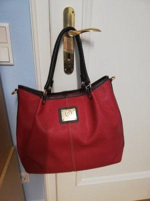 NEUE edle BOGNER Tasche mit viel Platz rot braun
