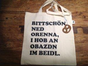 Neue Einkaufstasche mit lustigem Spruch