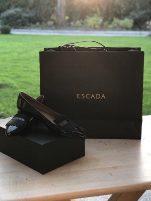 Escada Ballerinas with Toecap black leather