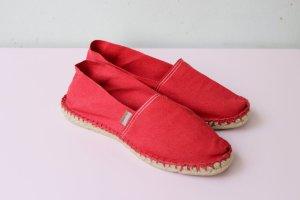 Espadrij Espadrille sandalen rood-neonrood