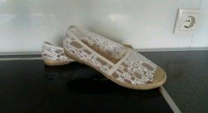 Espadrille sandalen wit