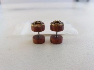 Ear stud bronze-colored-gold-colored