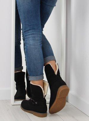 NEUE Fell Boots gefütterte Stiefel Halbstiefel 0-156 Halbschuhe  Fell Fake Fur Kunstfell  Blogger 36 27 38 39 40 41