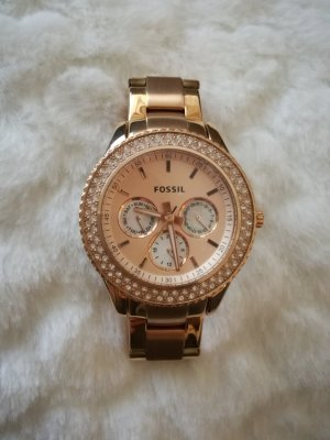 Neue Fossil Uhr in Rose-Goldmit Original Verpackung