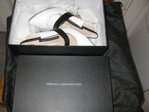 Neue French Connection Schuhe,36, Weiss - schwarz