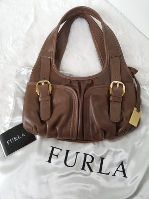 Neue FURLA Handtasche, Leder, hellbraun