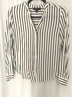 Neue gestreifte Bluse Hemd Shirt Gr 38 schwarz weiß Primark
