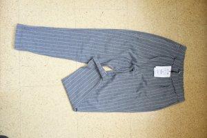Pull & Bear Pantalon de jogging gris-blanc