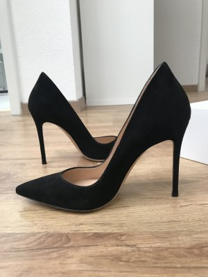 Neue Gianvito Rossi Ellipsis Pumps 39,5 Velours schwarz Wildleder Luxus