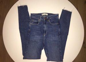 Gina Tricot Pantalon taille haute bleu foncé