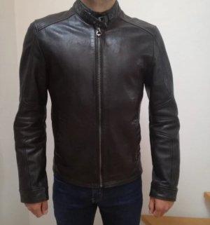 Neue Gipsy Herren Lederjacke schwarzbraun Gr. M