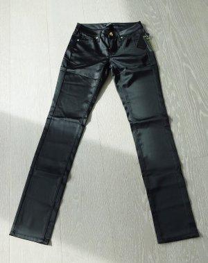 Neue glänzende schwarze Mango Hose / 34