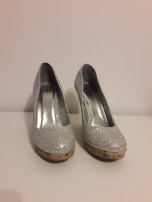 Starlet Wedge Pumps silver-colored