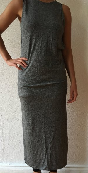 neue grau langes kleid new long dress grey