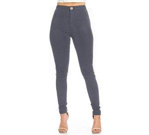 neue graue High waist Jeans