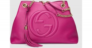 Gucci Sac fourre-tout rouge framboise-magenta cuir