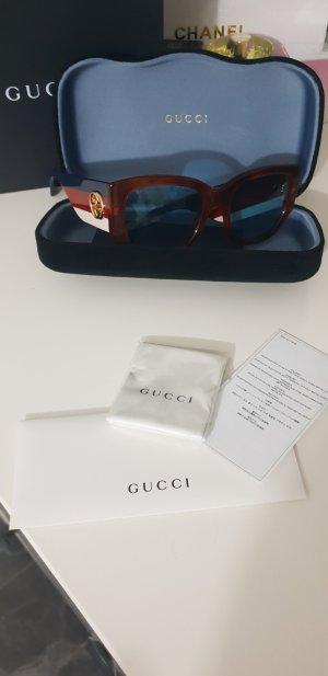 Gucci Hoekige zonnebril lichtbruin